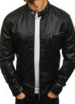 Изображение Куртка мужская с декоративной строчкой черная MFStore