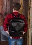Изображение Рюкзак мужской квадратный черный Kogut