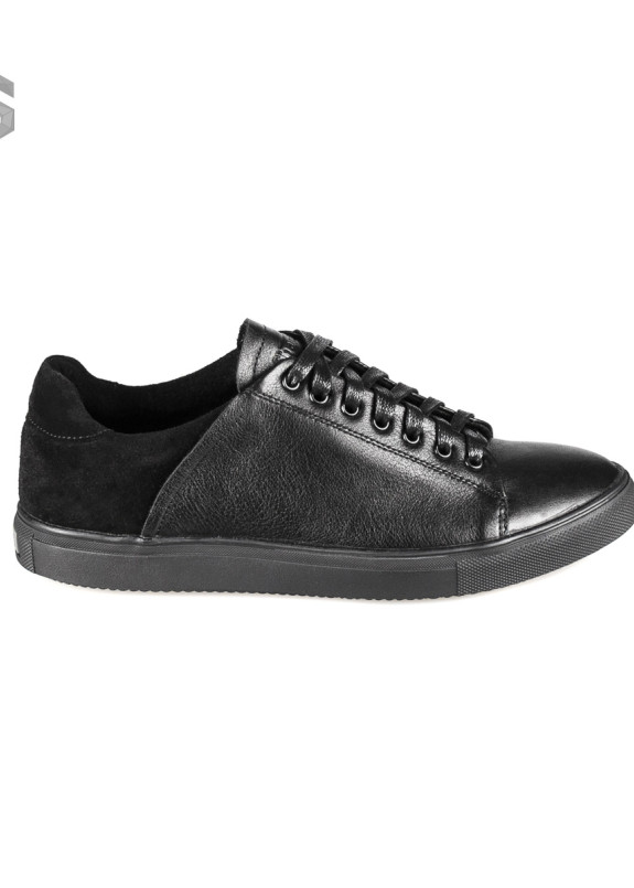 Изображение Кеды мужские кожаные черные Shoes