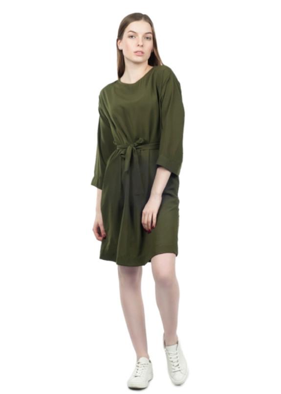 Изображение Платье с поясом хаки Grishko Design