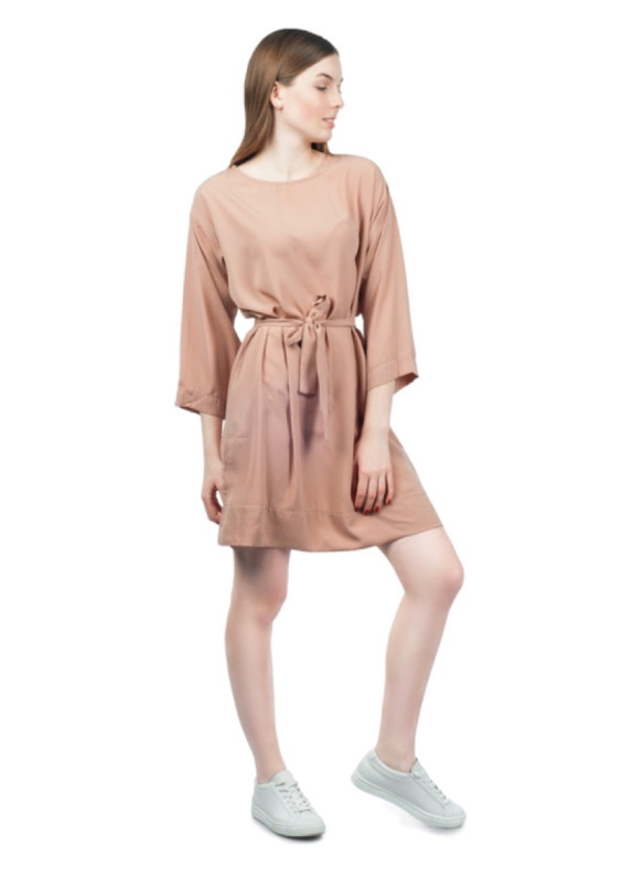 Изображение Платье с поясом бежевое Grishko Design