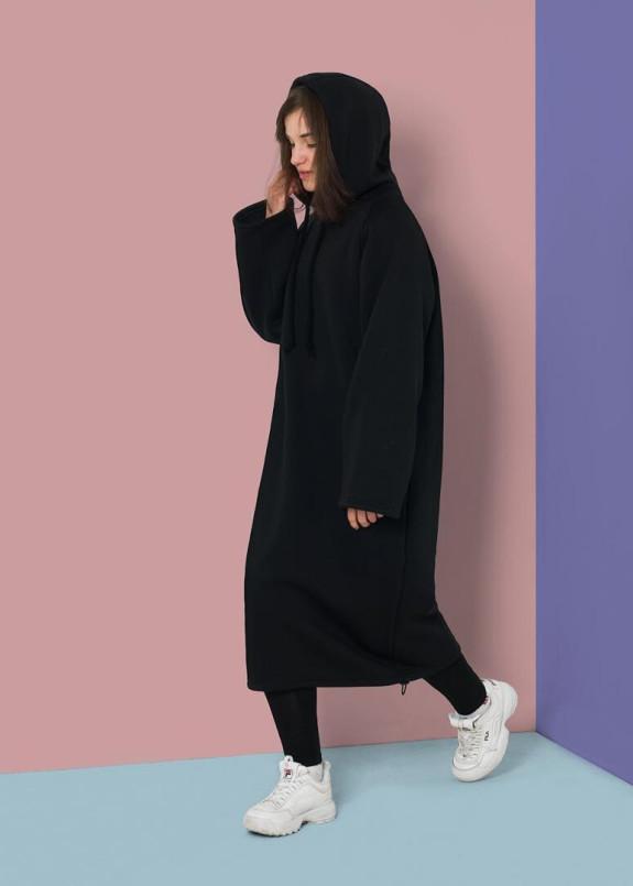Изображение Платье-свитшот черное Radio Cat