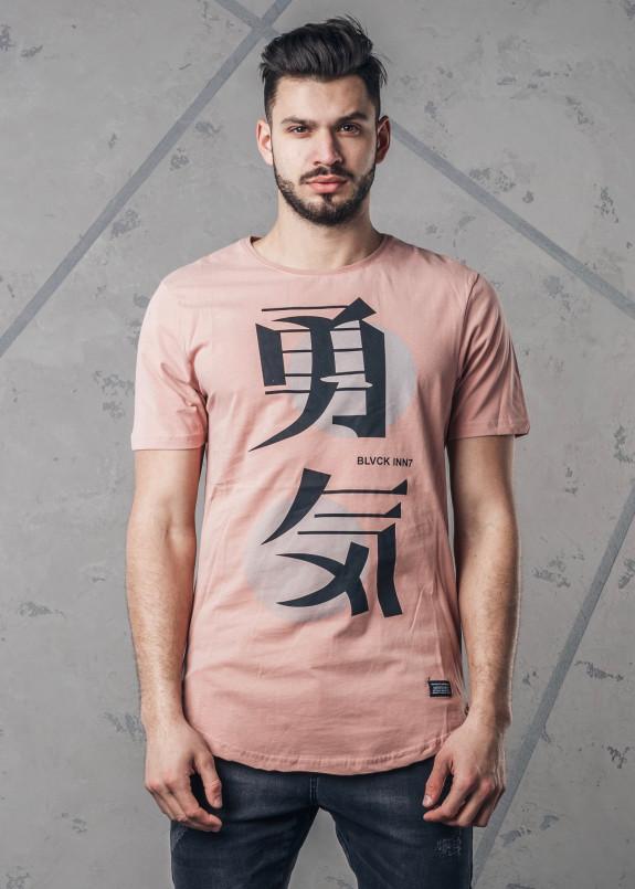 Изображение Футболка мужская с иероглифом розовая MFStore