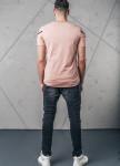 Изображение Футболка с диагональной полосой розовая MFStore