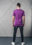 Изображение Футболка с декоративными швами фиолетовая MFStore