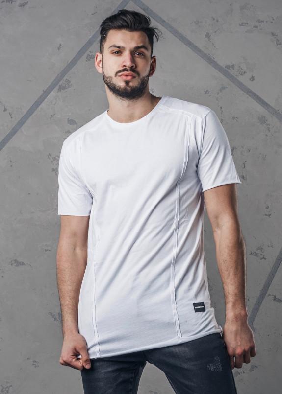 Изображение Футболка с декоративными швами белая MFStore