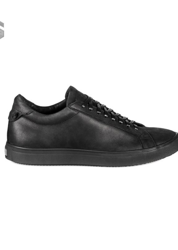 Изображение Кеды мужские матовые кожаные черные Shoes