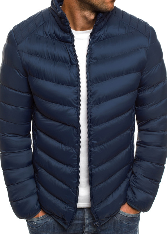 Изображение Куртка мужская стеганая темно-синяя MFStore