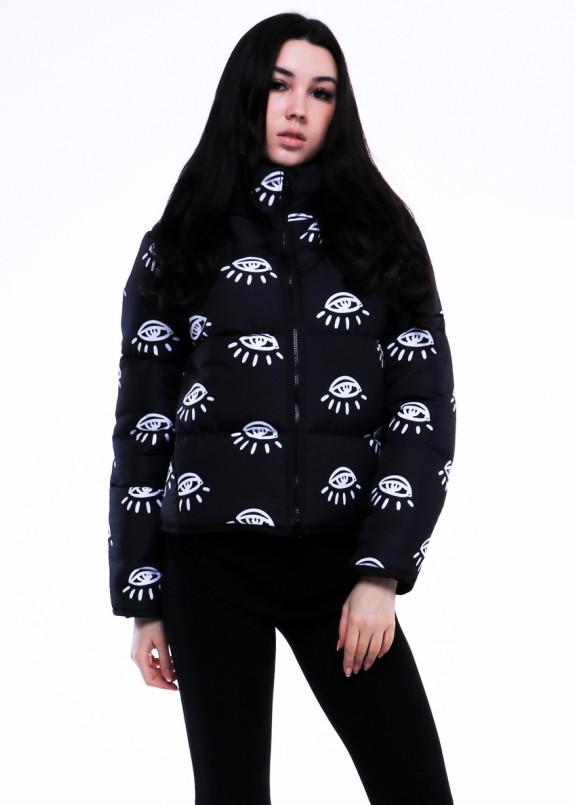 Изображение Куртка женская короткая черная EYES INSHA