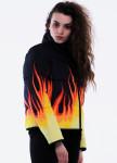 Изображение Куртка женская короткая черная FIRE INSHA