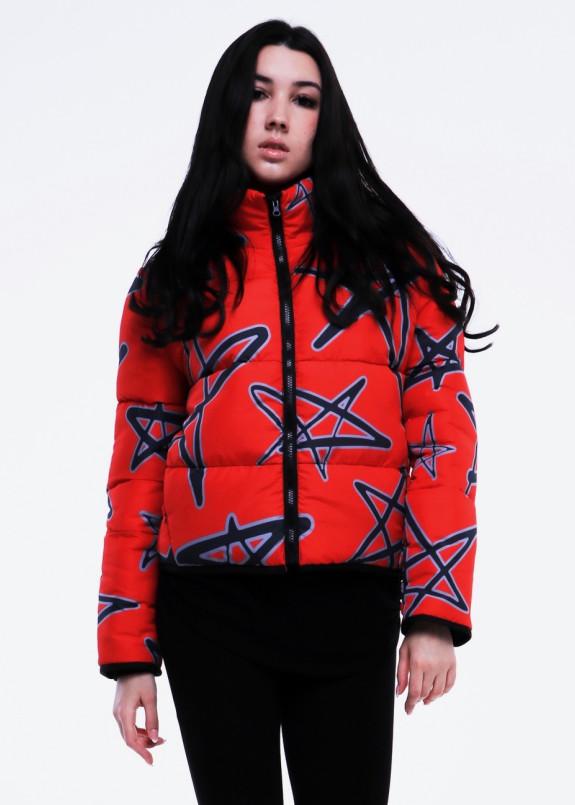 Изображение Куртка женская короткая красная STARS INSHA
