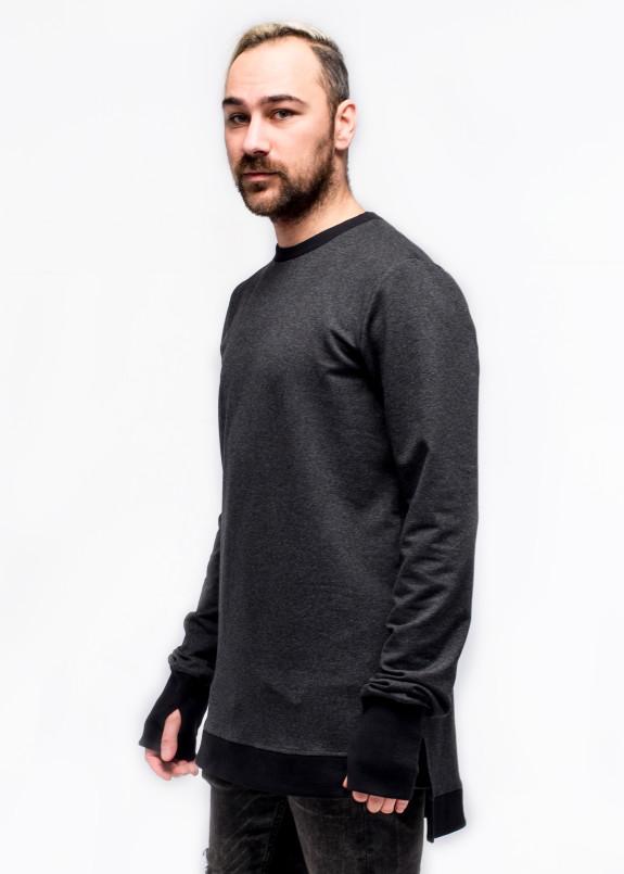 Изображение Свитшот мужской удлиненный серый ThePARA