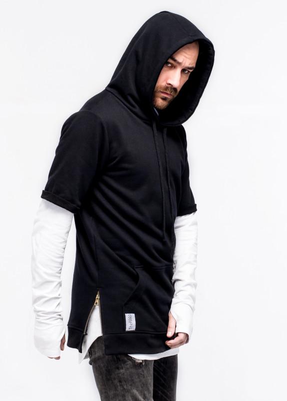 Изображение Худи мужское с коротким рукавом черное ThePARA