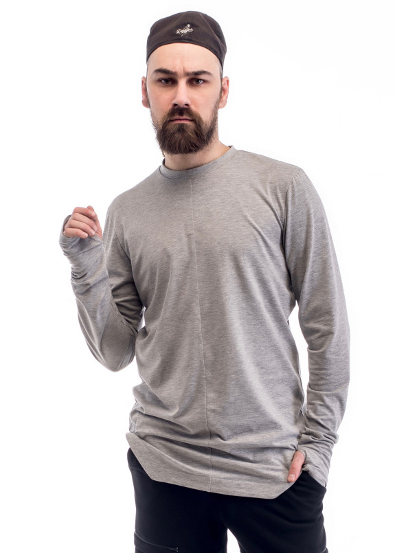 Изображение Лонгслив мужской удлиненный серый ThePARA