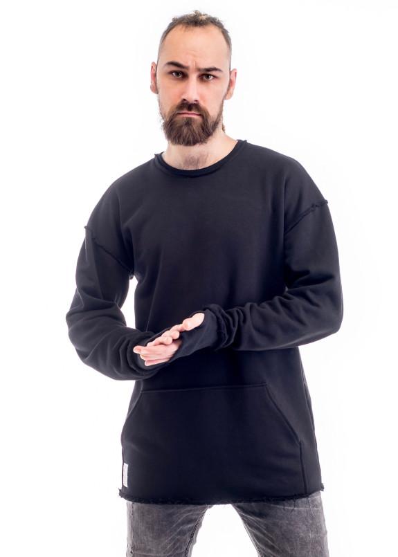 Изображение Свитшот мужской с накладным карманом черный ThePARA