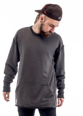 Изображение Свитшот мужской с накладным карманом серый ThePARA