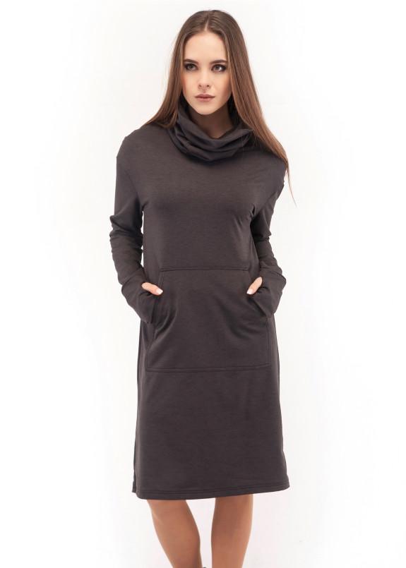 Изображение Платье темно-серое Wolff
