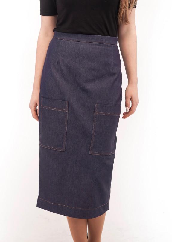 Изображение Юбка джинсовая синяя Wolff