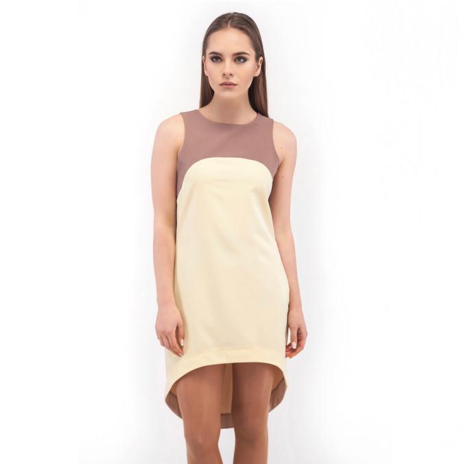 Изображение Платье трёхцветное желтое Wolff