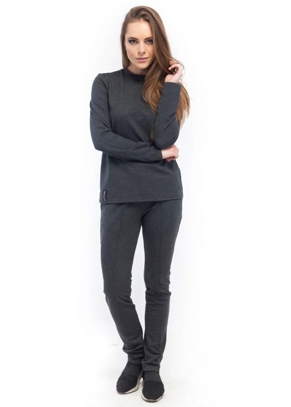 Изображение Спортивный костюм женский трикотажный серый Wolff