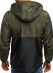 Изображение Ветровка мужская черная с зеленым MFStore