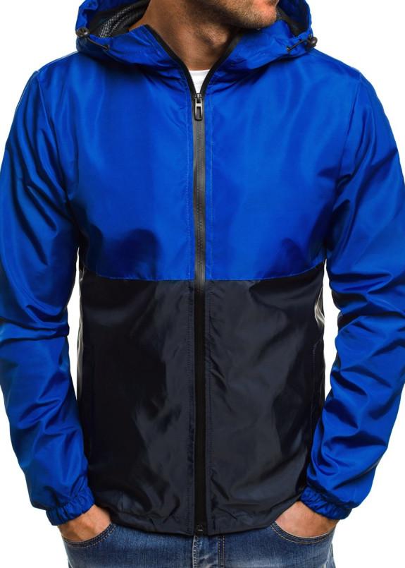 Изображение Ветровка мужская черная с синим MFStore