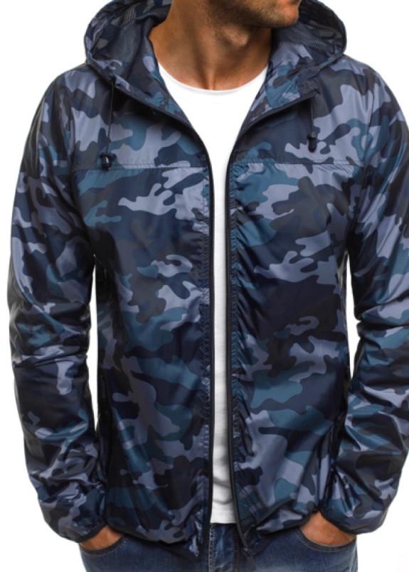Изображение Ветровка мужская камуфляж синяя MFStore