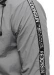 Изображение Ветровка мужская с лампасами серая MFStore