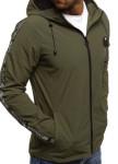 Изображение Ветровка мужская с лампасами зеленая MFStore