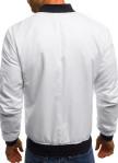 Изображение Бомбер мужской со сборкой на рукавах белый MFStore