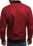 Изображение Бомбер мужской со сборкой на рукавах бордовый MFStore