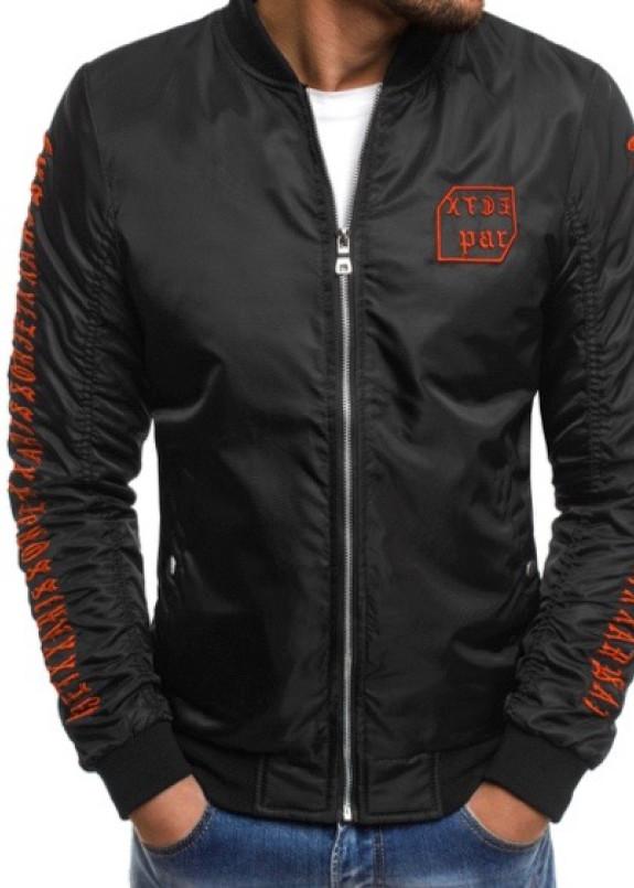 Изображение Бомбер мужской с вышивкой черный MFStore