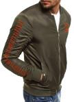 Изображение Бомбер мужской с вышивкой хаки MFStore