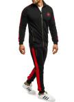 Изображение Костюм спортивный с лампасами черный с красным MFStore