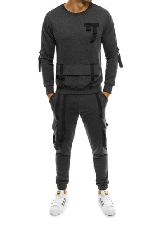 Изображение Костюм спортивный с подтяжками темно-серый MFStore