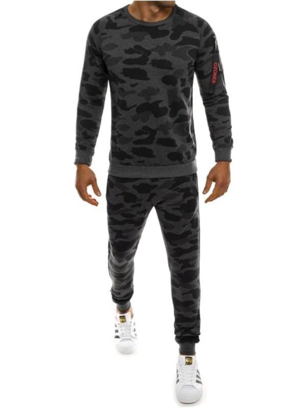 Изображение Спортивный костюм камуфляж серый MFStore