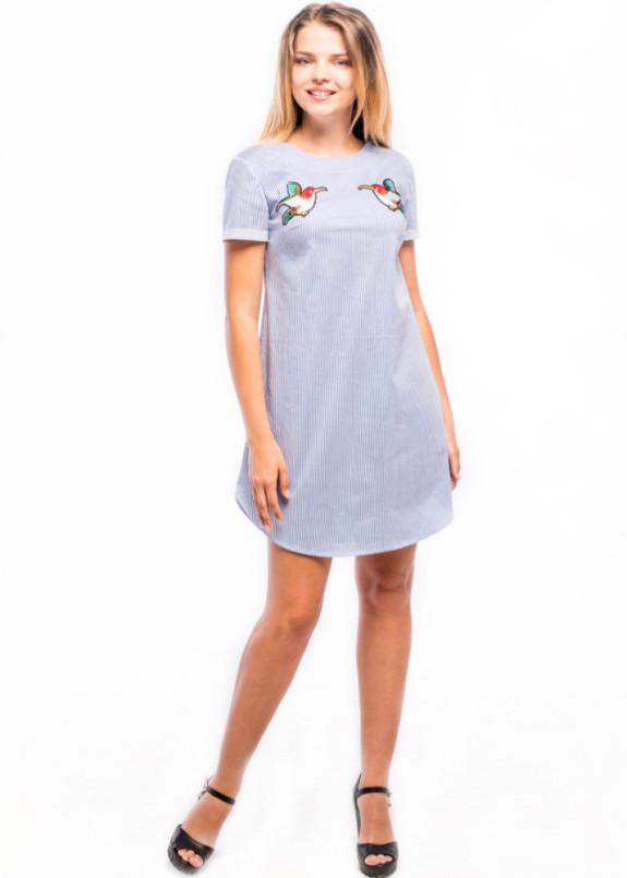 Изображение Платье-рубашка в полоску голубое Wolff