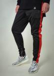 Изображение Штаны мужские с лампасами черные с красным T-Stripe Somatonic