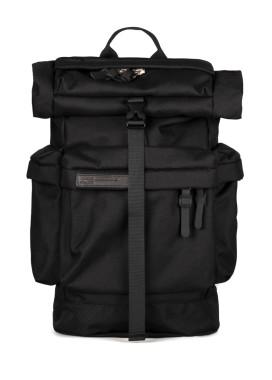 Изображение Рюкзак большой текстильный с тремя карманами черный Pilsok