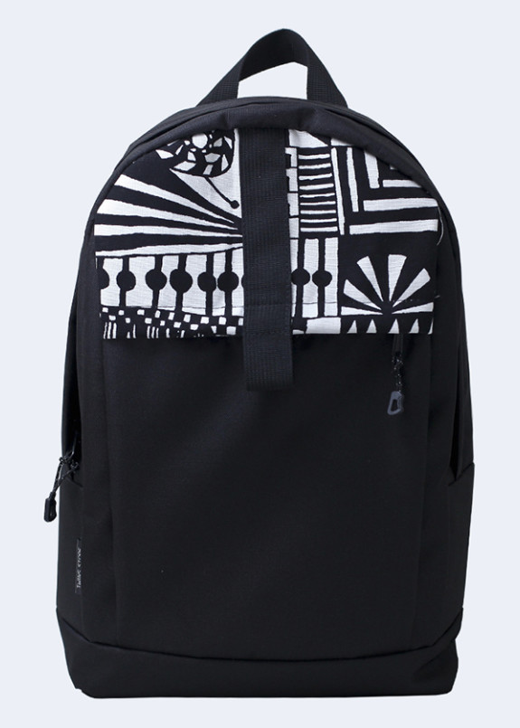 Изображение Рюкзак текстильный с орнаментом черный Twins Store