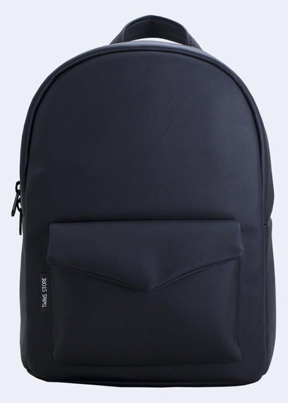 Изображение Рюкзак женский с накладным карманом черный Twins Store