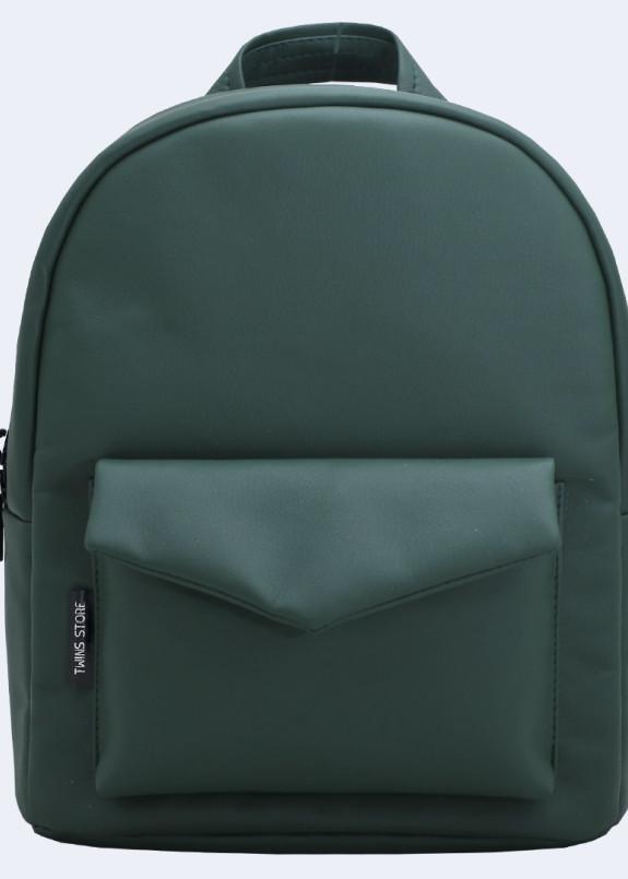 Изображение Рюкзак женский с накладным карманом зеленый Twins Store