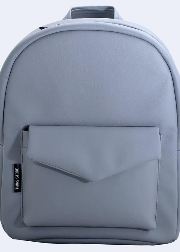 Изображение Рюкзак женский с накладным карманом светло-серый Twins Store