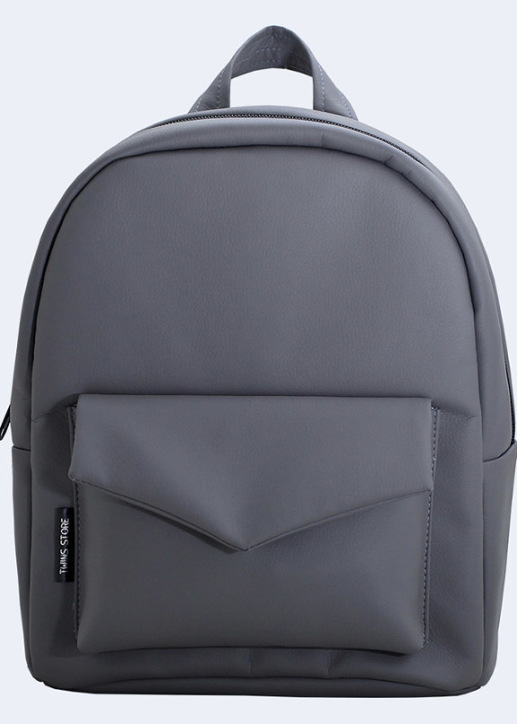 Изображение Рюкзак женский с накладным карманом серый Twins Store