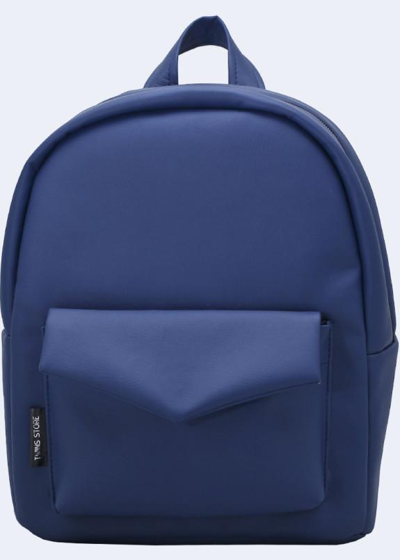 Изображение Рюкзак женский с накладным карманом синий Twins Store