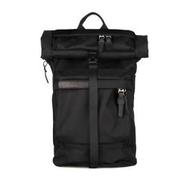 Изображение Рюкзак текстильный с накладным верхом черный Ромб Pilsok