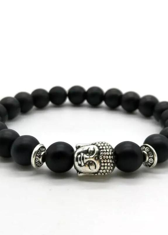Изображение Браслет из натурального камня черный BUDDHA Fashion