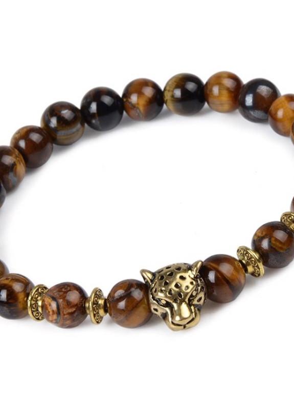 Изображение Браслет из натурального камня коричневый Leopard Fashion