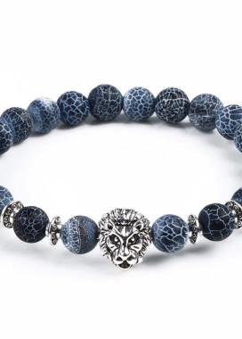 Изображение Браслет из натурального камня синий Leo Fashion