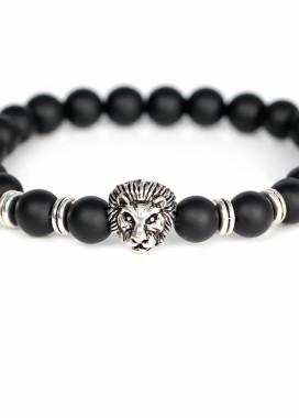 Изображение Браслет из натурального камня черный Leo Fashion